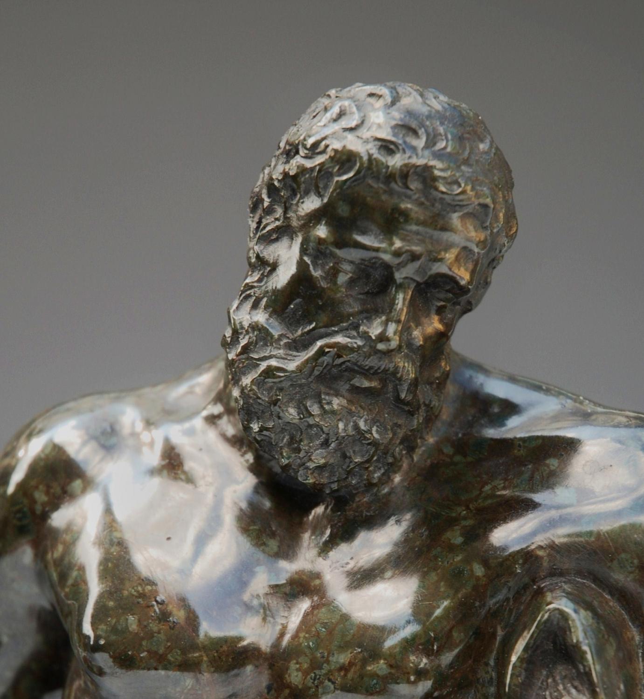 Carved Serpentine figure of Farnese Hercules