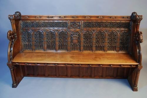 Extremely rare part 15thc/part 19thc settle
