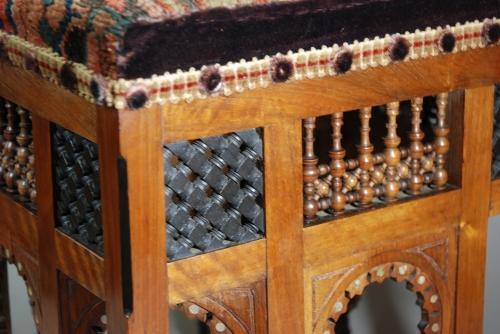 Liberty & Co Moorish upholstered stool