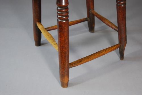 19thc elm tavern stool