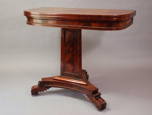 19th century mahogany card table