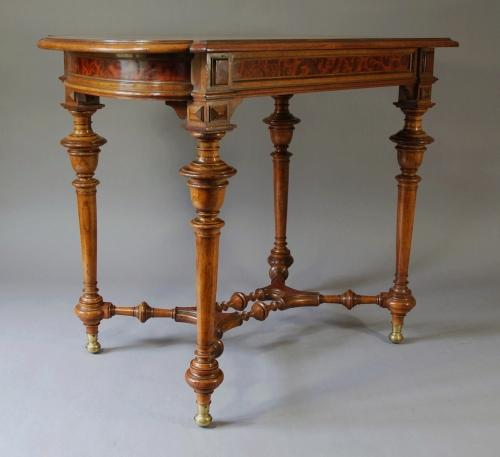 19th century French walnut centre table