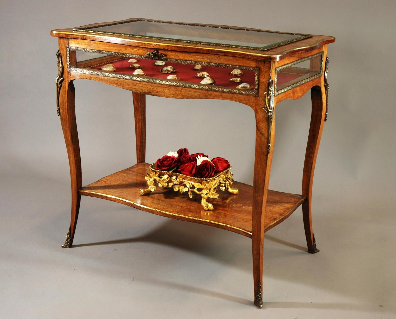 Late 19thc English bijouterie table