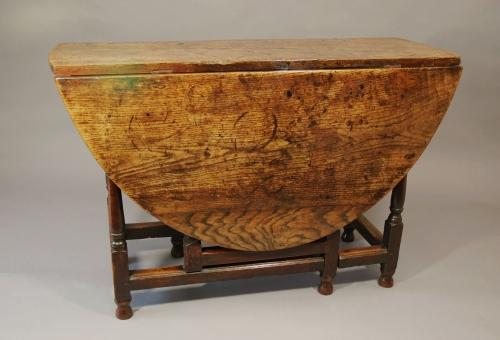 18thc oak gateleg table