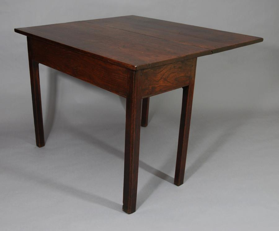 Elm drop leaf table