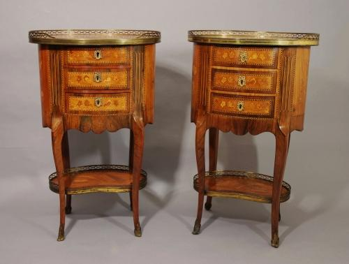 Pair of table en chiffoniere