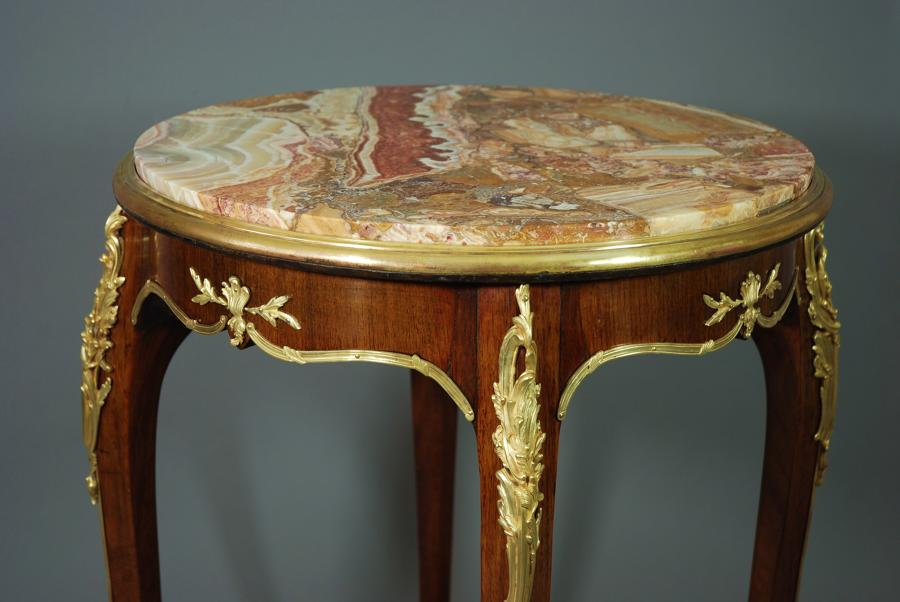Late 19thc French Kingwood & ormolu table
