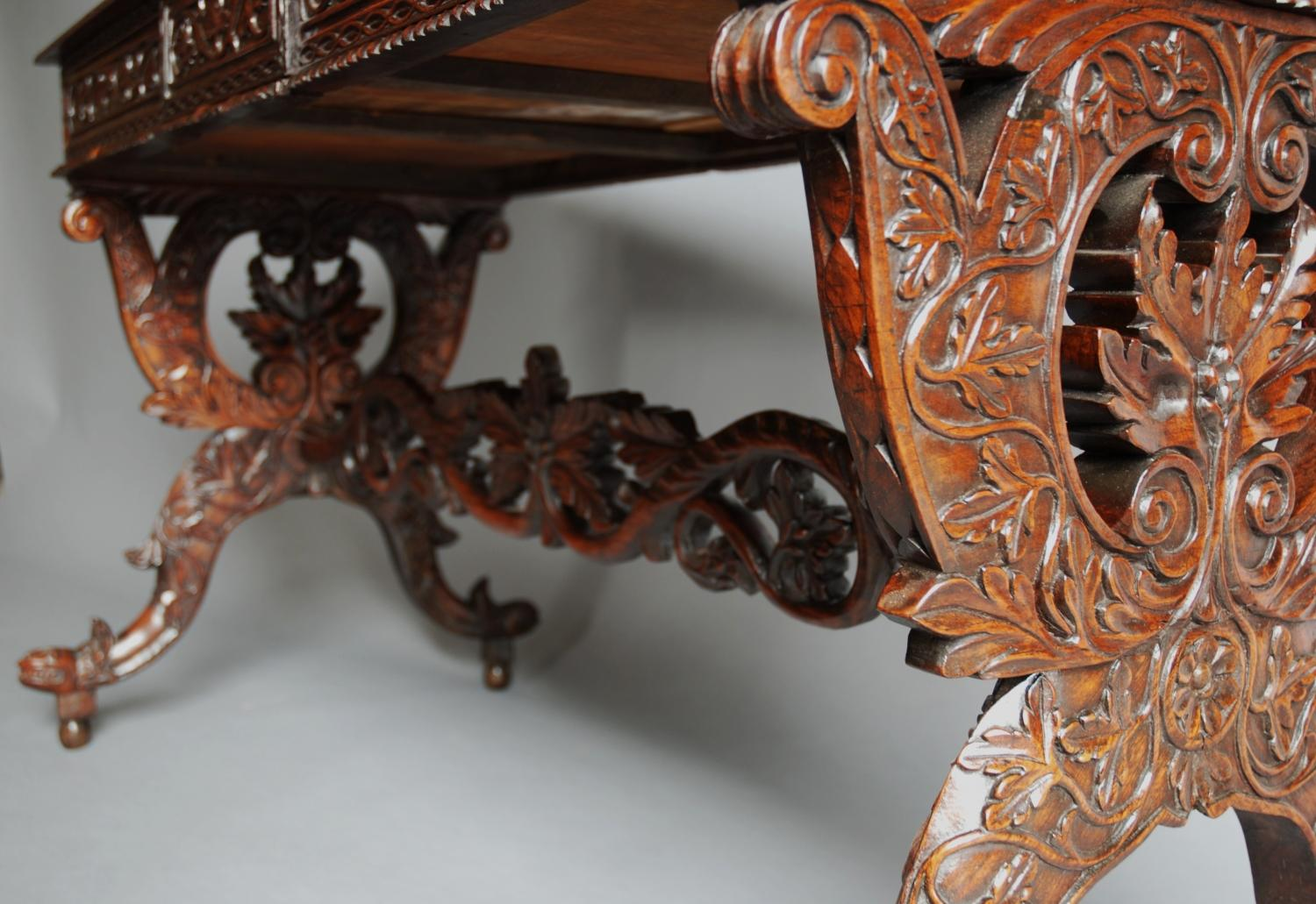Mid 19thc Anglo Indian hardwood table