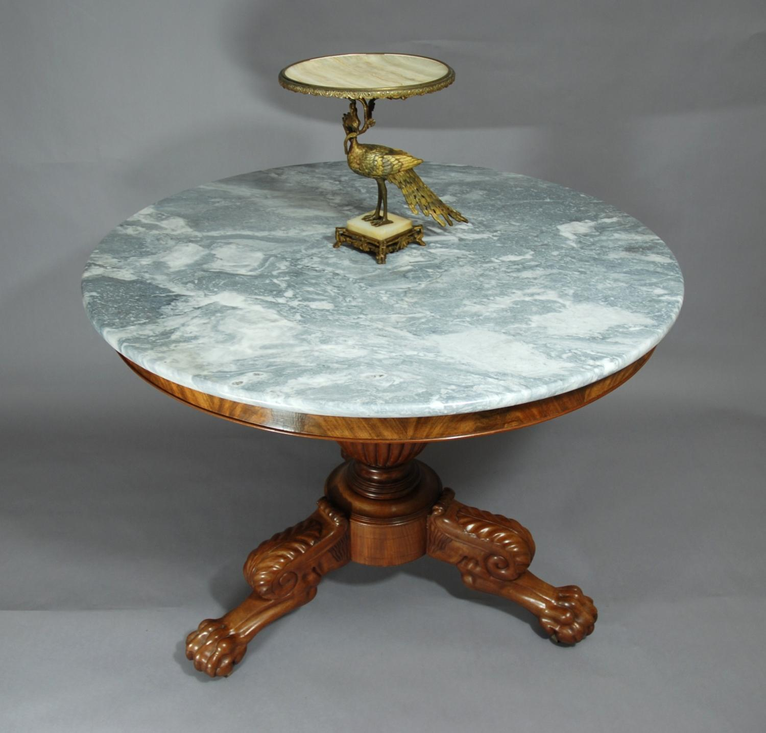 19thc French marble top centre table