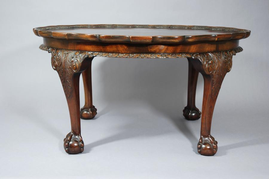 Edwardian Chippendale revival mahogany table