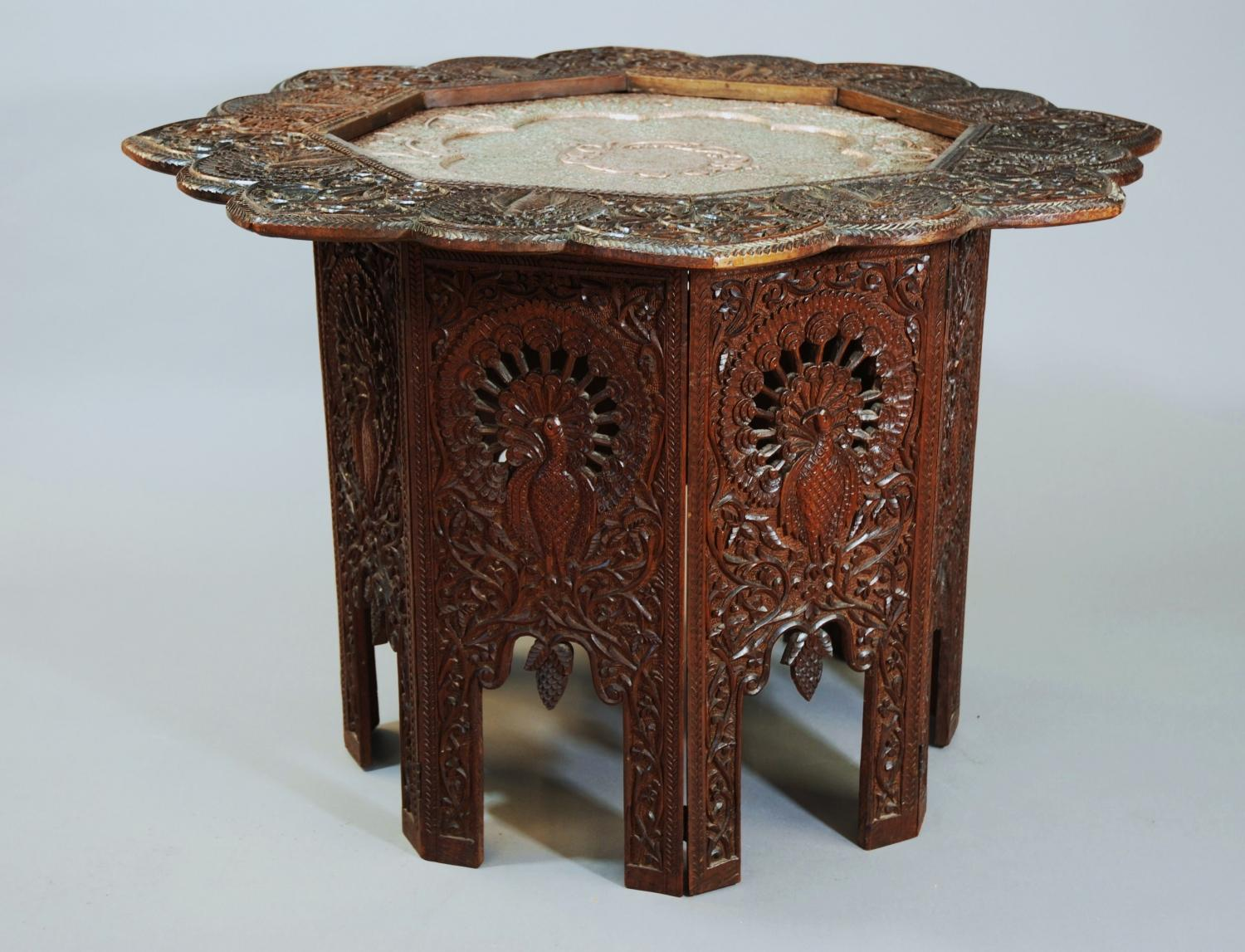 Middle Eastern table with copper top