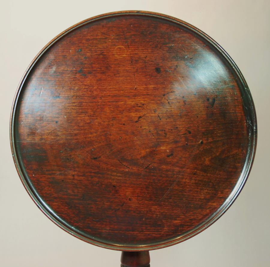 Mahogany dished tilt top table