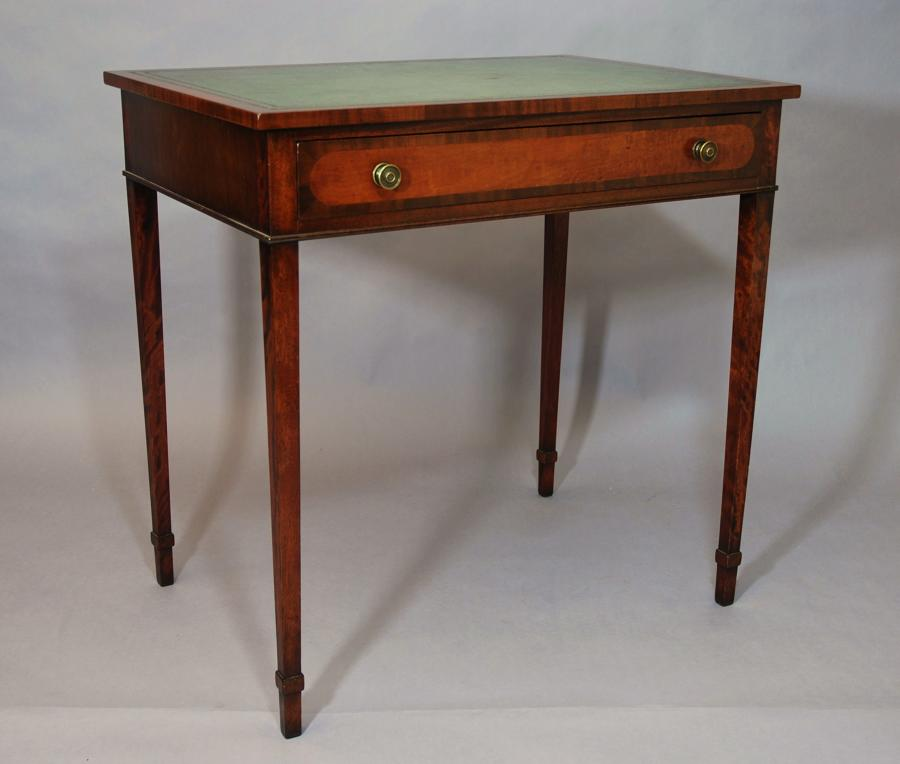 Small mahogany writing table