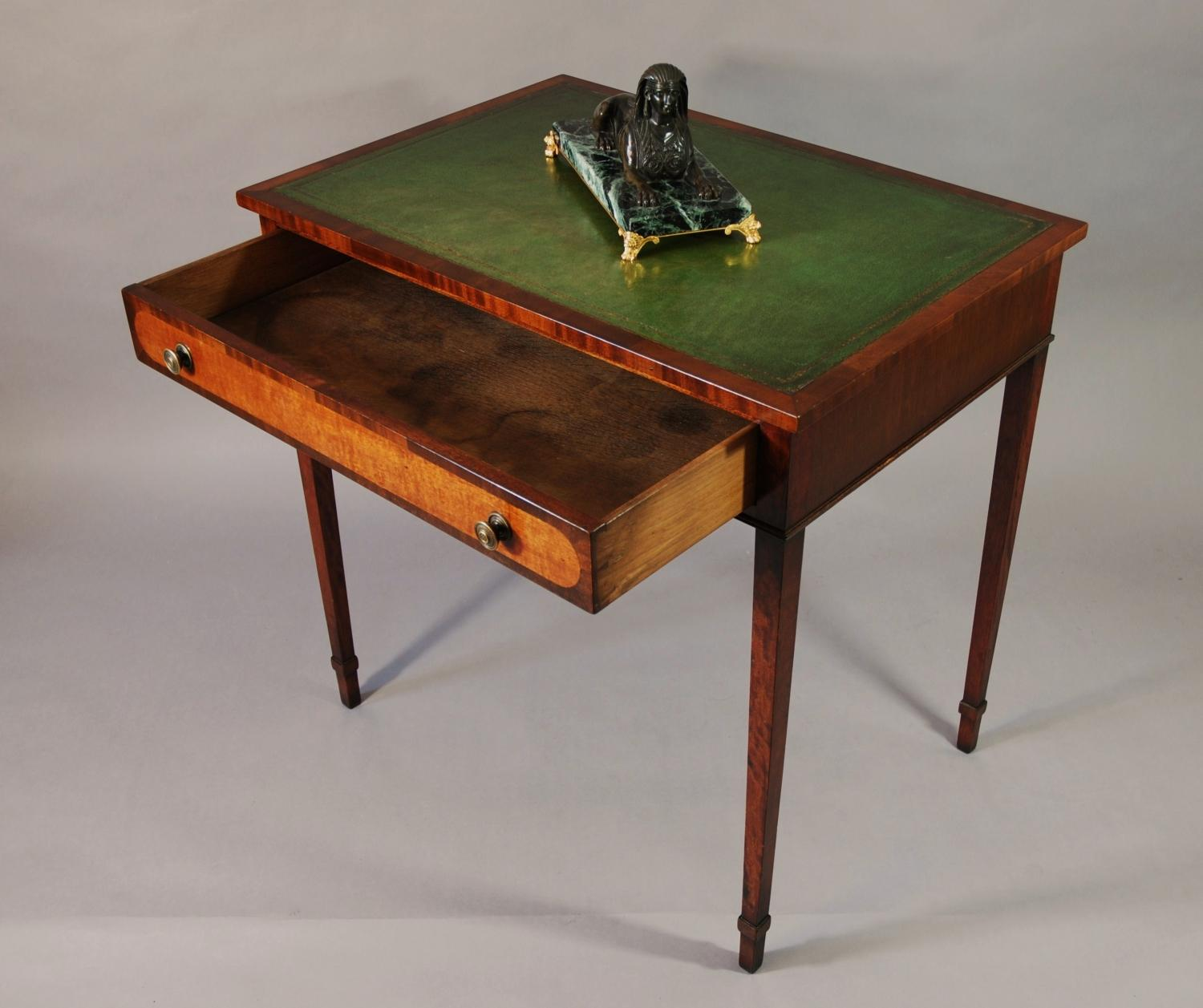 Small mahogany writing table