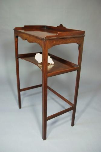 Early 19thc mahogany two-tier table