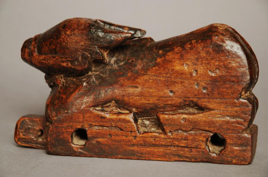 Wooden childs toy of a calf