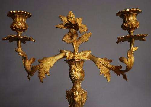 19thc pair of French ormolu candlesticks