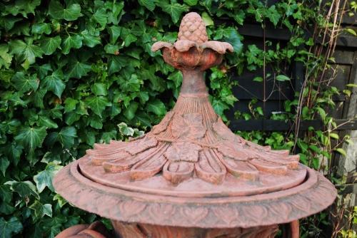 Decorative Pair Of Terracotta Composition Gar In Garden