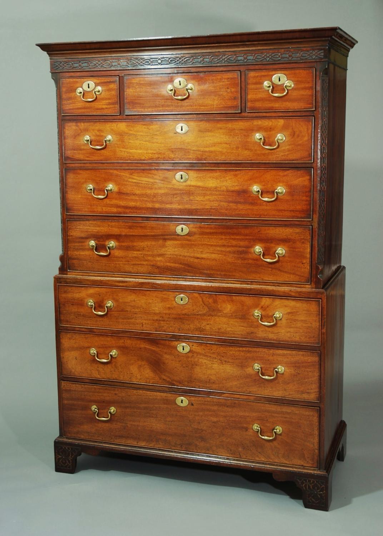 18th century mahogany chest on chest