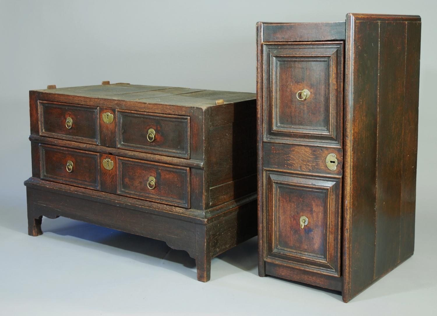 17th oak chest of drawers