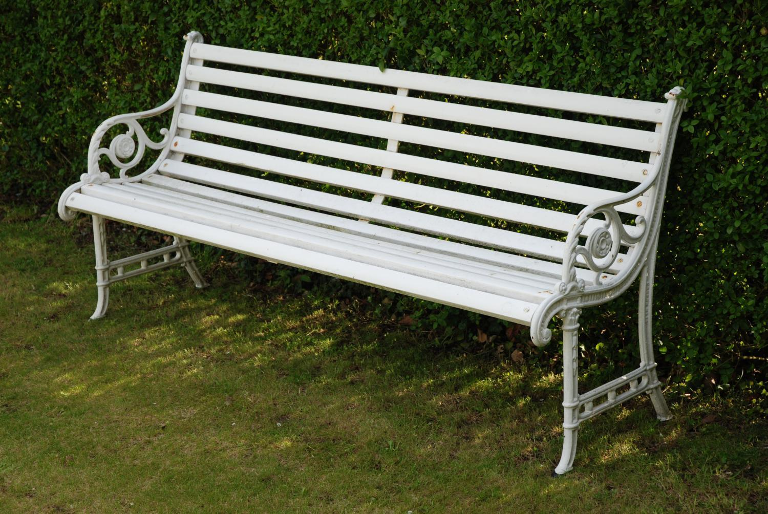 Edwardian cast iron garden bench in Garden FurnitureUrns