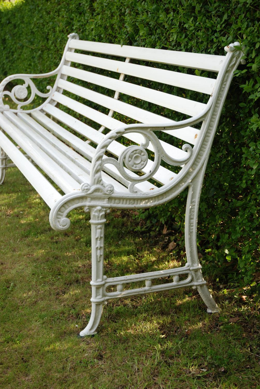 Edwardian Cast Iron Garden Bench In Sold Archive