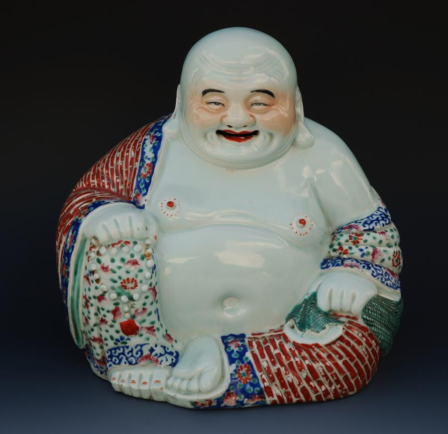 Chinese early 20thc porcelain budha