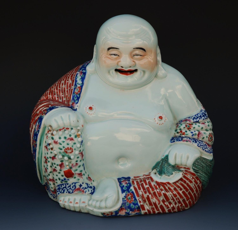 Chinese early 20thc porcelain budha