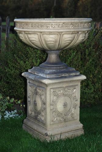 Late 19thc glazed terracotta urn
