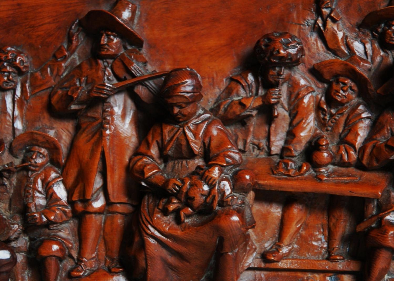 19thc Flemish tavern scenes  signed 'AS'