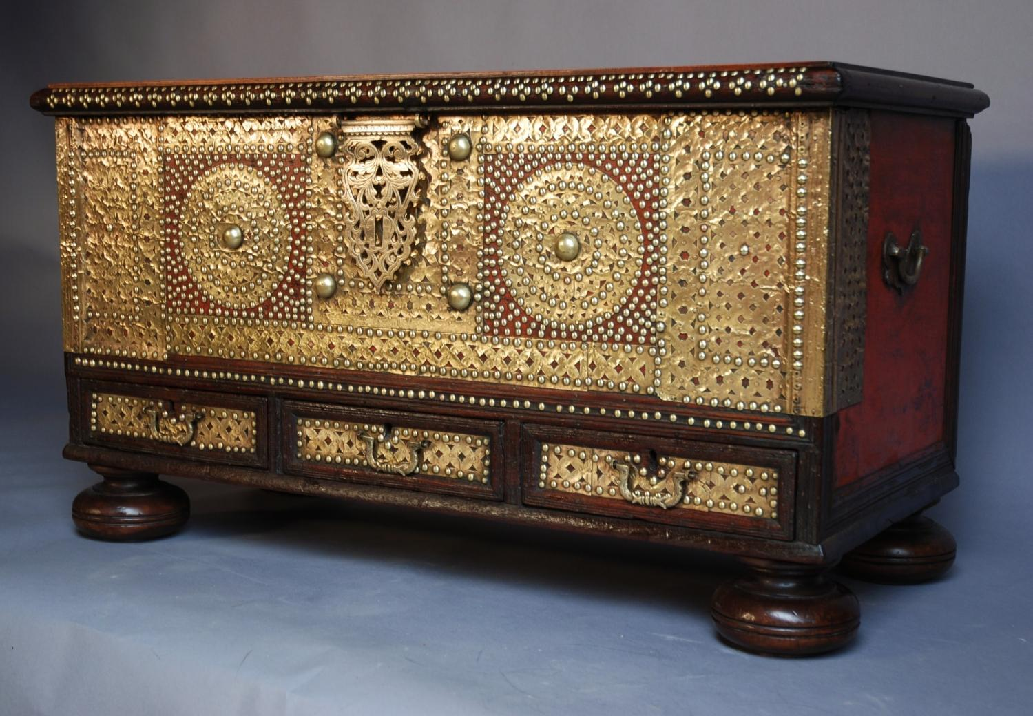 18thc decorative Sinhalese traders chest