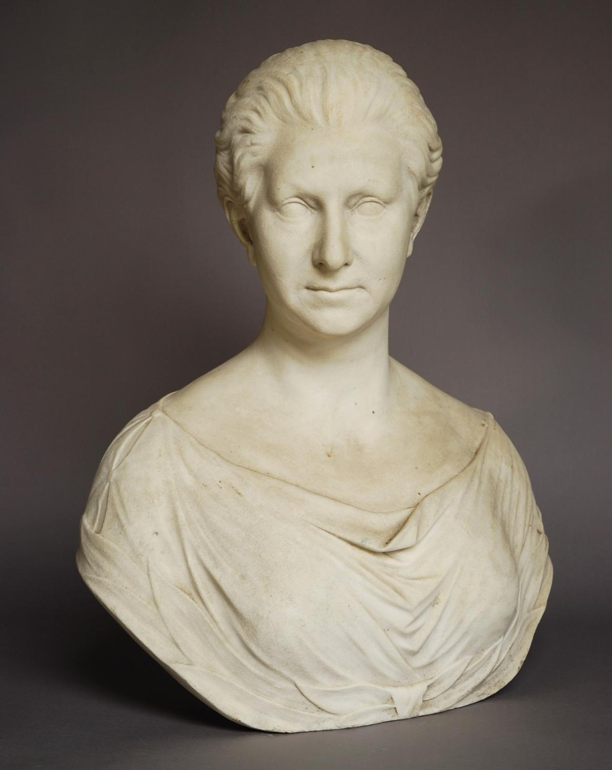 19thc marble bust of Queen Victoria
