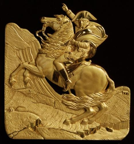 Ormolu relief plaque of Napoleon