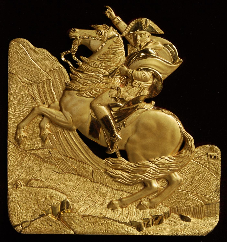 Ormolu relief plaque of Napoleon