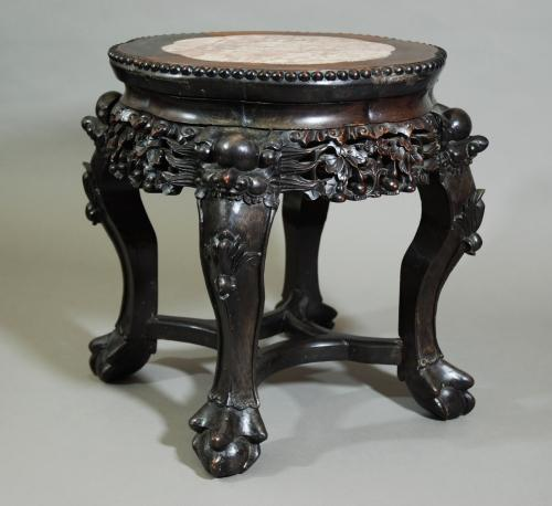 Late 19thc Chinese pot stand