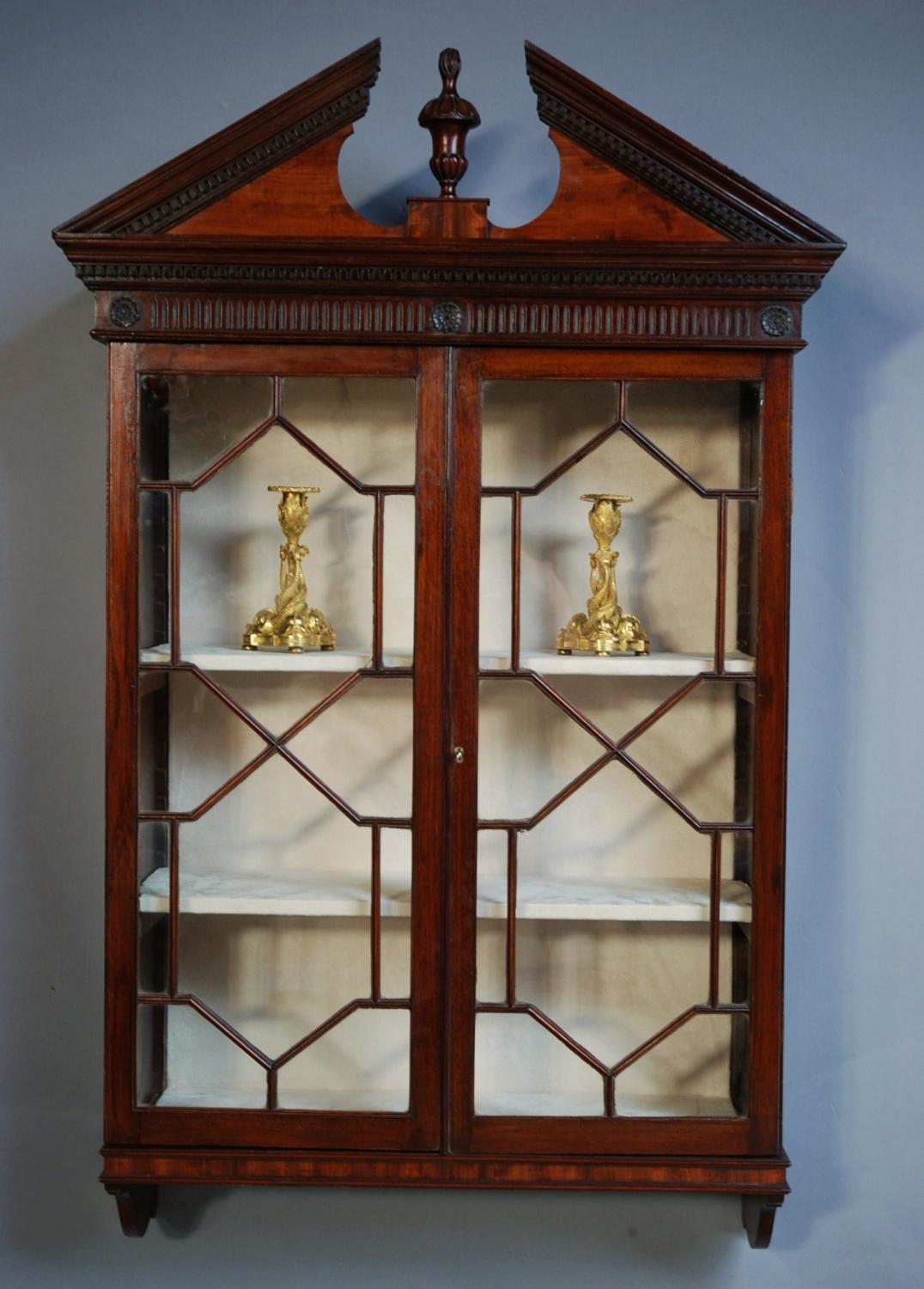 Mahogany hanging bookcase/display case
