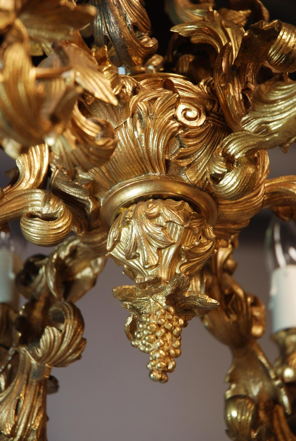 Rococo style 19thc french ormolu chandelier in sold archive for What is the other name for the rococo style