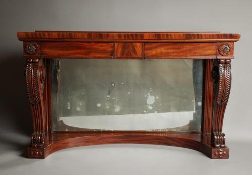 Early 19thc mahogany console table