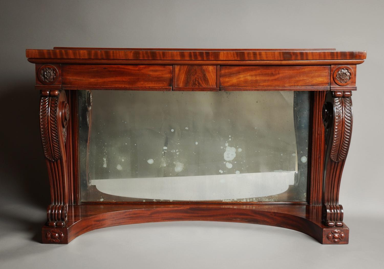 Early 19thc mahogany console table