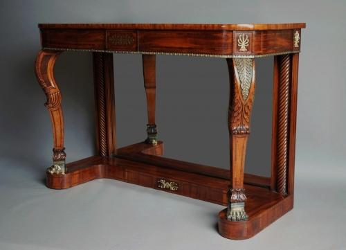 19thc Mahogany & Rosewood console table