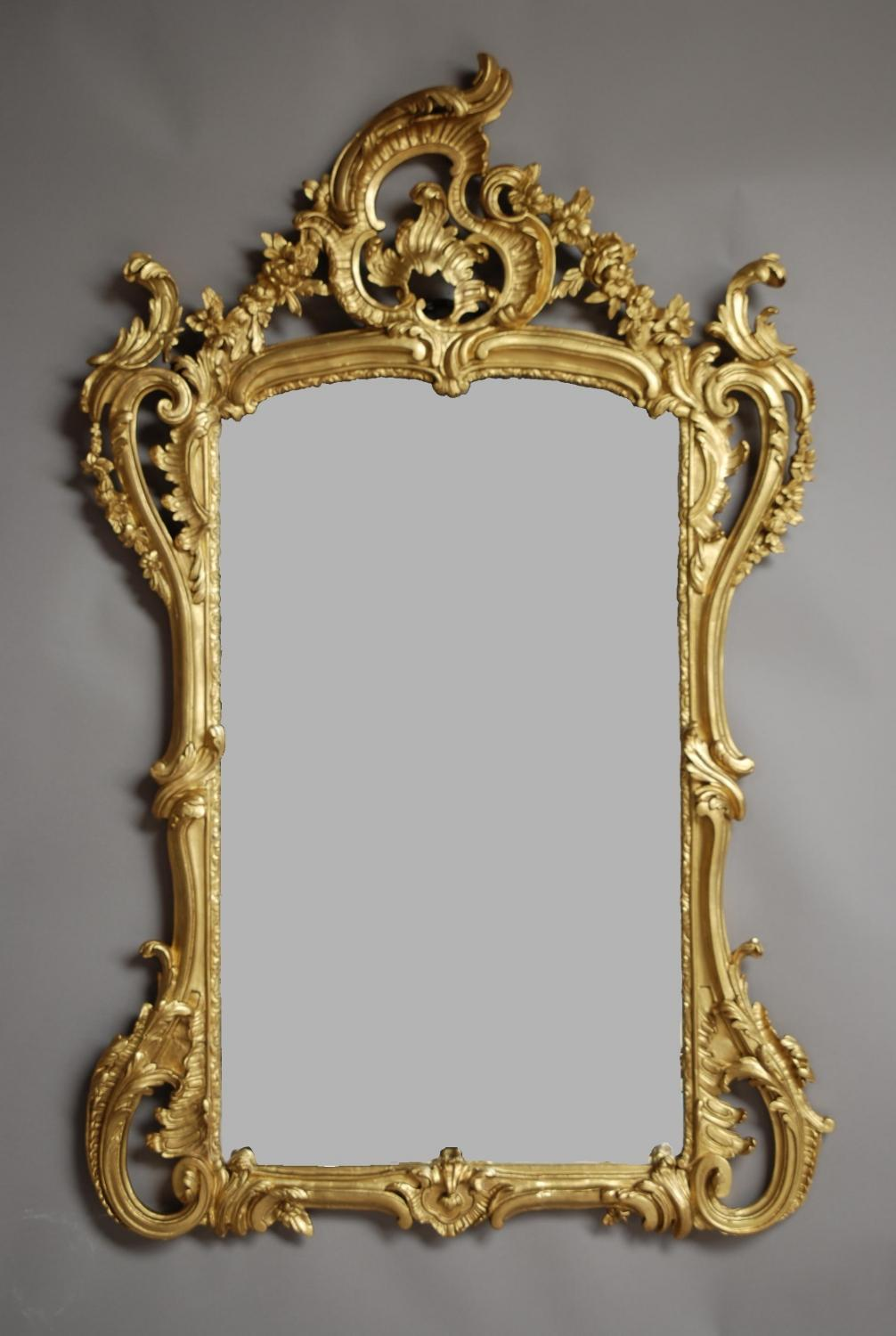19th century French mirror in Rococo manner