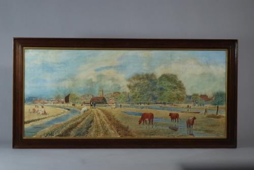 Watercolour landscape of Beccles, Suffolk