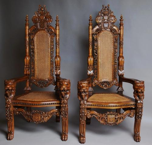 Pair of large Ceremonial chairs