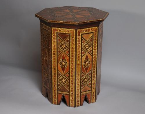 Eastern octagonal inlaid occasional table