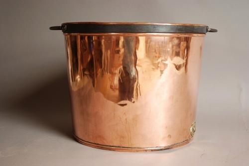 Large polished French copper copper