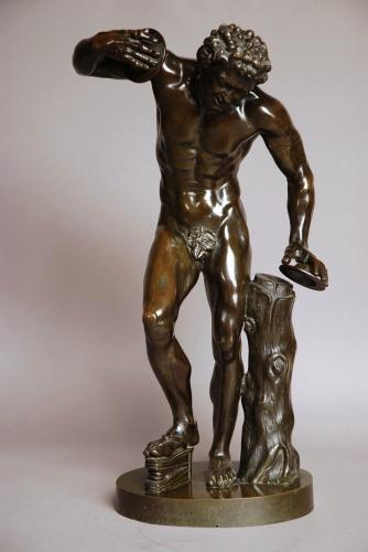 Grand Tour Classical bronze of dancing faun