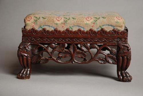 Anglo Indian foot stool