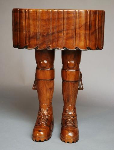 Decorative Scotsman's kilt table