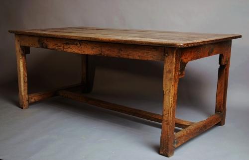 Oak farmhouse table of superb patina