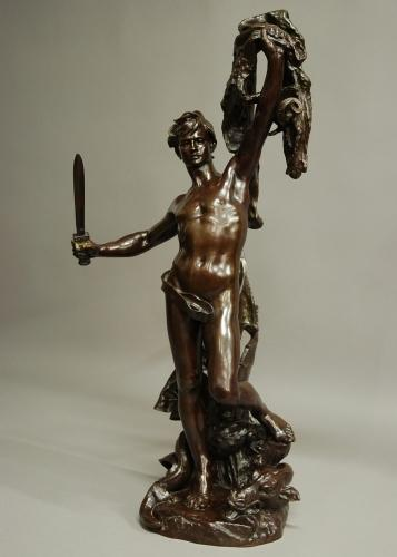 Large bronze 'Jason and the Golden Fleece'